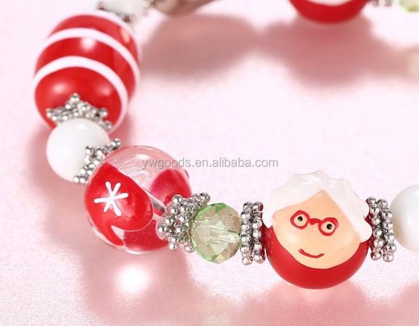 Wholesale Christmas Bracelet Stretch Style Brushwork