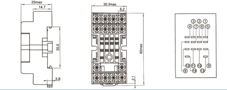 SAIP/SAIPWELL New Product 5 Pin Relay Socket General Auto