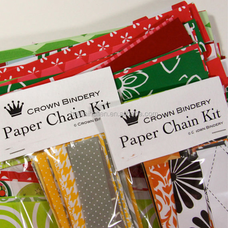 christmas paper chains rustic