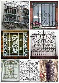 Modern Wrought Iron Window Grill Design - Buy Modern ...