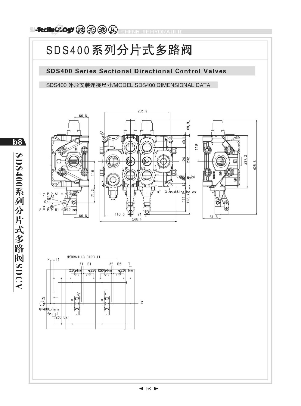 hight resolution of sd400 series hydraulic sectional spool directional control valves ofport valves available manual and hydraulic control kits