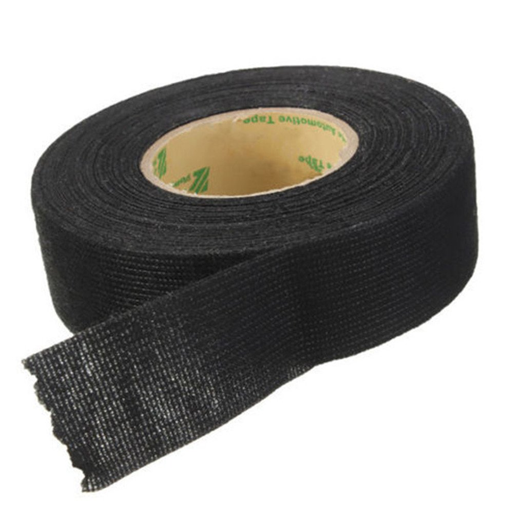 hight resolution of vipe black flannel 15m car auto wiring harness anti rattle self adhesive felt tape