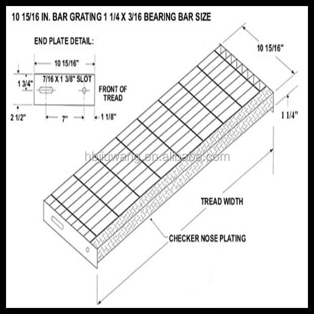 Abrasive Nosing Stair Tread Hebei Jiuwang Metal Wire Mesh