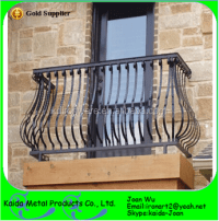 Curved Wrought Iron Balcony Railings Design