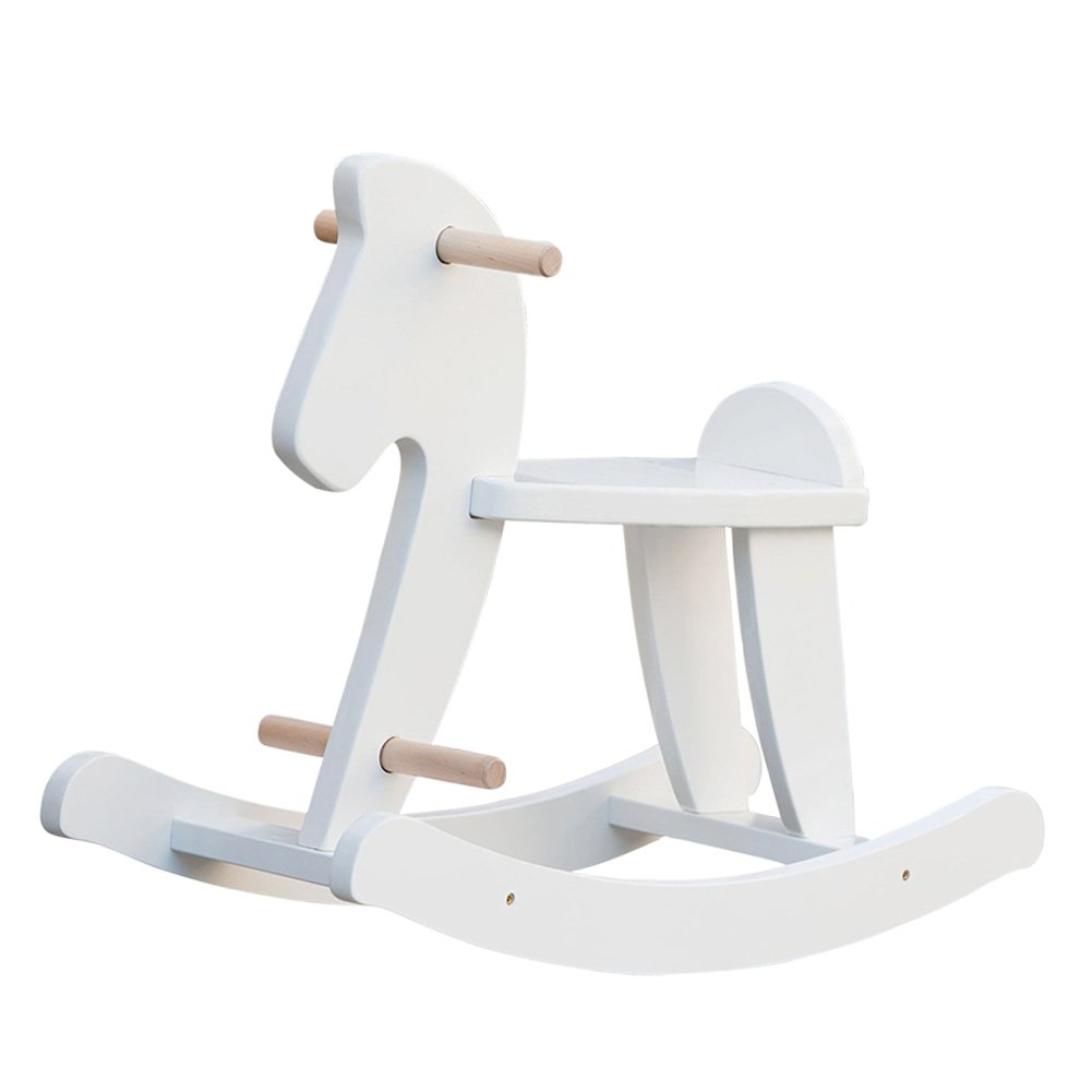 animal rocking chair pier 1 wicker cheap free horse find deals on line at get quotations labebe child wooden toy white for kid
