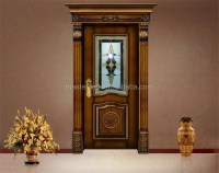 Asian Hand Carved Wooden Single Main Gate Door Design