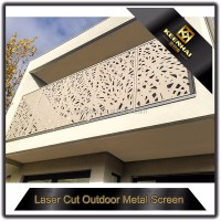 Outdoor Laser Cut Decorative Aluminum Balcony Railing ...