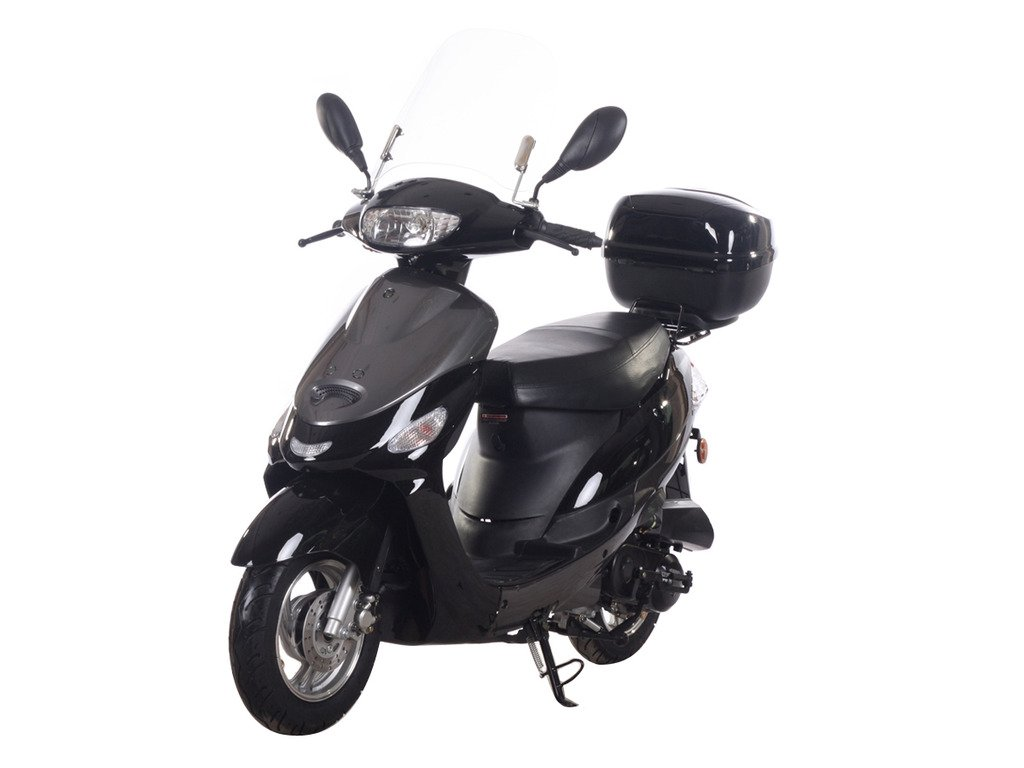 hight resolution of get quotations icebear 49cc 50cc street legal moped scooter gas powered pmz50 4 black