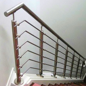 Modern Cheap Stair Railing Design With Rod Bar Railing Stainless | Industrial Stair Railing Design | Industrial Style | All Metal Interior | Contemporary Metal | Small Stair | Detail Industrial