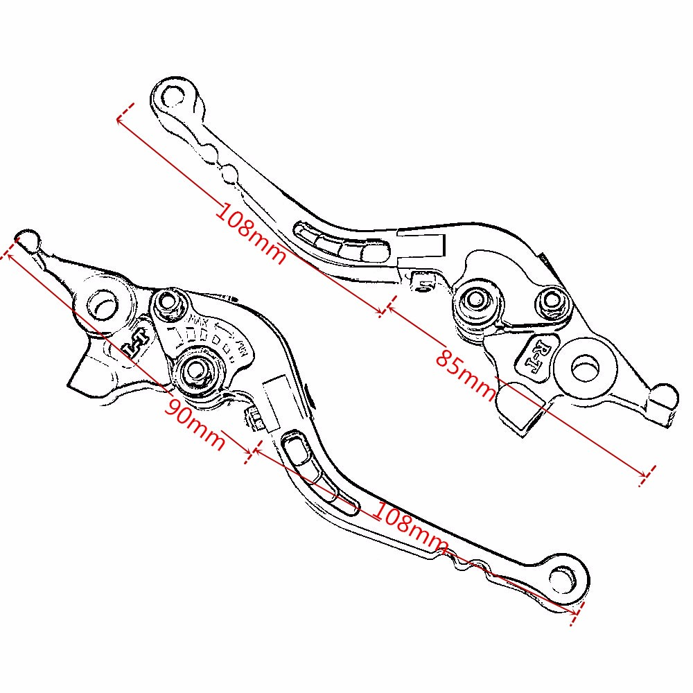 Foldable Cnc Dirt Bike Clutch Lever For Yamaha Fjr 1300