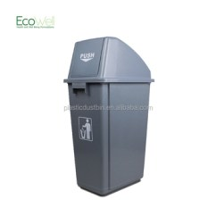 Kitchen Compost Container Red Stone Outdoor 60litre Recycle Bin Trash Can Push Buy