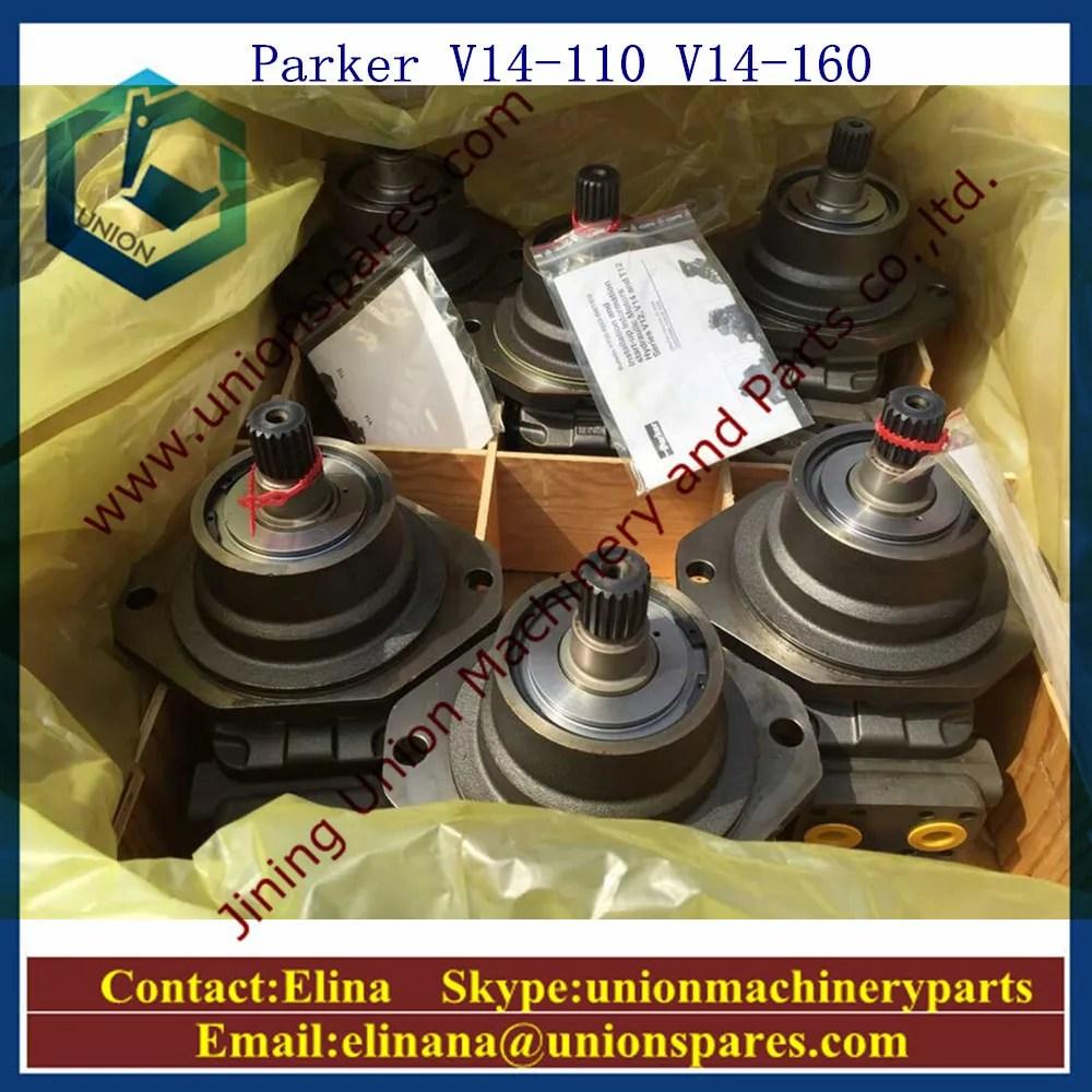 hight resolution of parker v14 110 hydraulic motor v14 160 hydraulic pump