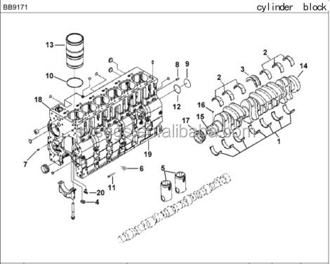 Dongfeng Truck Engine Parts Diesel Engine Oil Filter