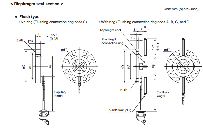Yokogawa Eja438e Pressure Transmitter With Diaphragm