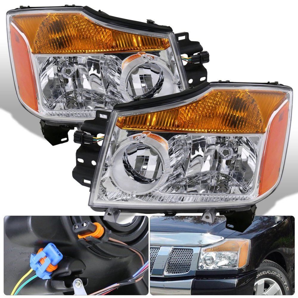 medium resolution of get quotations for nissan titan armada 1 piece chrome housing clear lens amber reflector corner jdm upgrade replacement