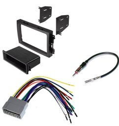 jeep 2005 2007 grand cherokee car cd stereo receiver dash install mounting kit wire [ 1000 x 1000 Pixel ]