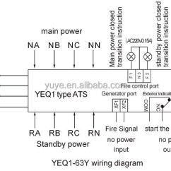 Single Phase Manual Transfer Switch Wiring Diagram Bathroom Drainage Yeq1-63 Mcb/dual Power Automatic Switch/automatic For Generator - Buy ...