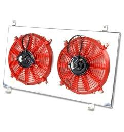 get quotations honda element mt aluminum bolt on cooling radiator fan shroud red y1 [ 1200 x 1200 Pixel ]