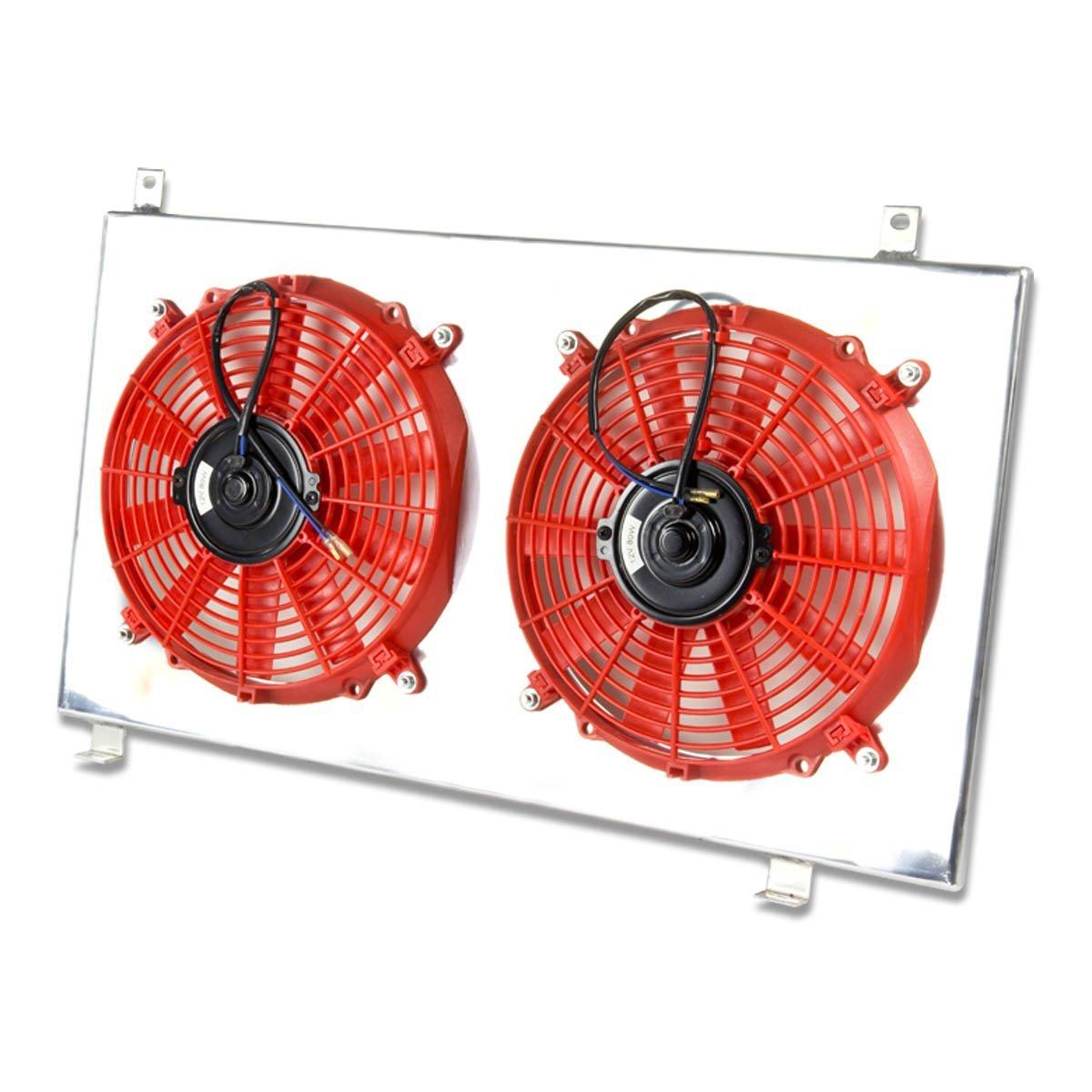 hight resolution of get quotations honda element mt aluminum bolt on cooling radiator fan shroud red y1