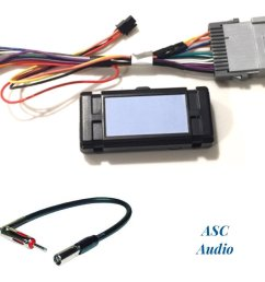 asc audio premuim car stereo radio wire harness and antenna adapter for some gm chevrolet 03 06 silverado tahoe suburban sierra etc  [ 1200 x 1009 Pixel ]