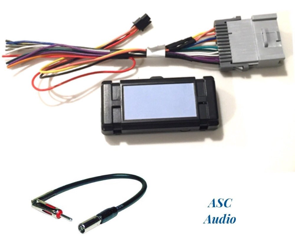 medium resolution of asc audio premuim car stereo radio wire harness and antenna adapter for some gm chevrolet 03 06 silverado tahoe suburban sierra etc