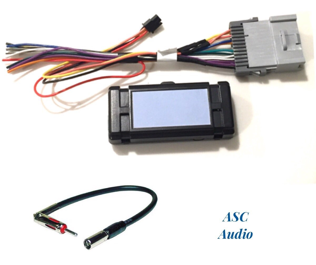 hight resolution of asc audio premuim car stereo radio wire harness and antenna adapter for some gm chevrolet 03 06 silverado tahoe suburban sierra etc