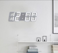 Unique Design Large Led Digital Wall Clock 8 Shape - Buy ...