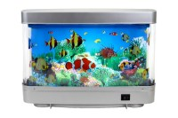 Plastic Aquariums Fish Tank 3d Lifelike Moving Fish Lamp