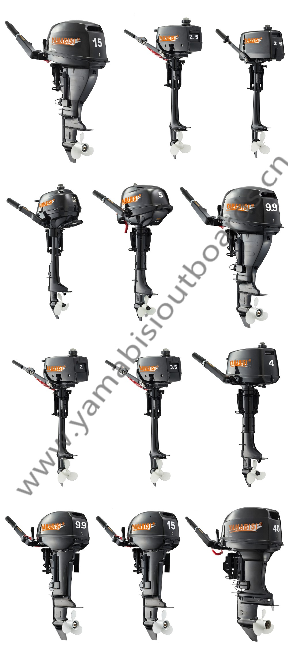 CE-Approved 4 stroke YAMABISI outboard motor/engine (2.5hp