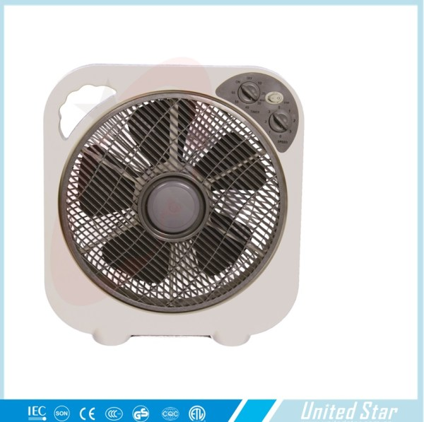 14 Square Box Fan With 5 Blades Electric Motor 12 View Parts