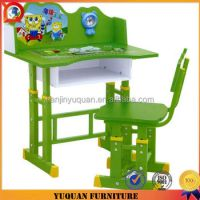 Modern Colorful Cartoon Picture Wood Study Table And Chair