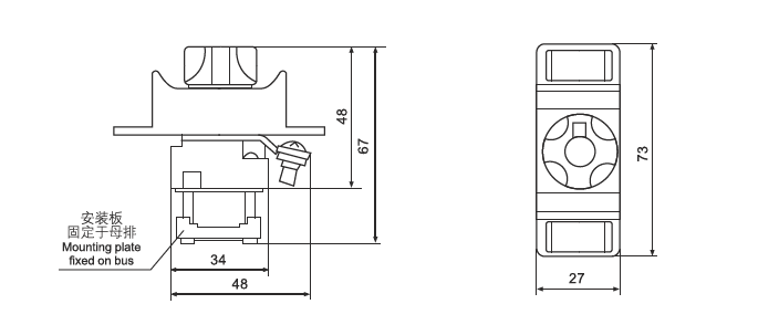 D02 R026 Screw Ceramic Busbar Fuse Holder And Fuse Cap