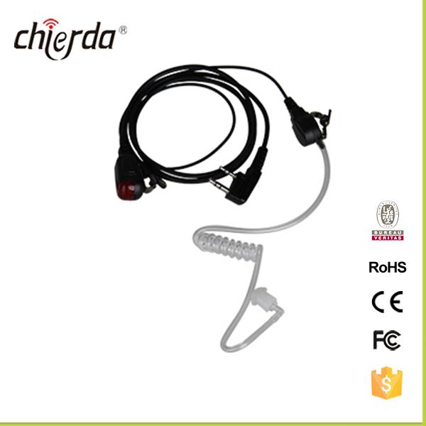 Draagbare handheld twee manier radio oortelefoon air buis
