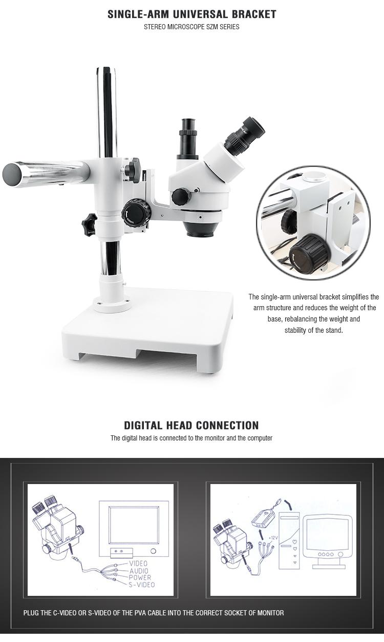 medium resolution of baku ba 009t mini adjustable operating stereo digital trinocular microscope stand with camera video