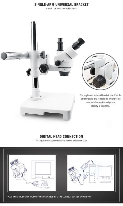 small resolution of baku ba 009t mini adjustable operating stereo digital trinocular microscope stand with camera video