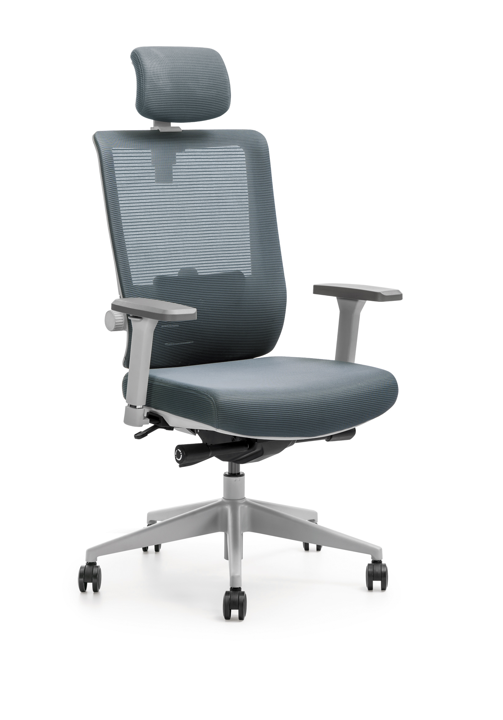 ergonomic chair comfortable light gray accent chairs adjustable meeting room office net fabric