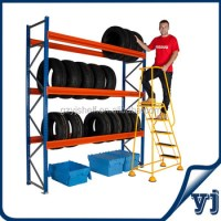3-tire Tire Display Rack On Wheels/warehouse Pallet ...