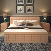 Latest Solid Wood Double Bed Designs With Storage Box ...