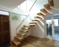 Glass Metal Straight Stairs / Metal Stairway / Wood ...