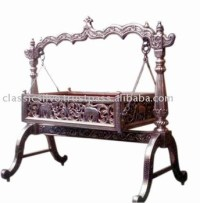 Carved Silver Baby Swing Cradle Bed (silver Furniture From ...