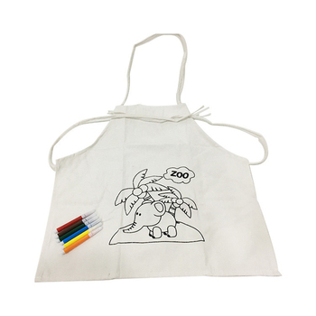 kitchen apron for kids rubber floor mats sleeveless cartoon cooking aprons bib painting food buy white cheap disposable plastic bibs product on
