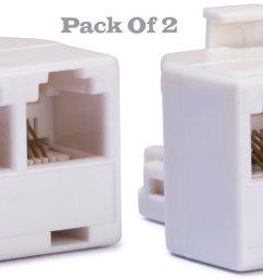duplex wall jack adapter converts one rj 11 male jack [ 2390 x 1047 Pixel ]