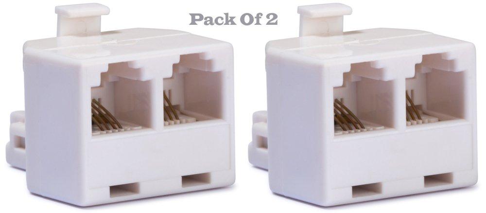 medium resolution of duplex wall jack adapter converts one rj 11 male jack