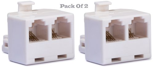small resolution of duplex wall jack adapter converts one rj 11 male jack