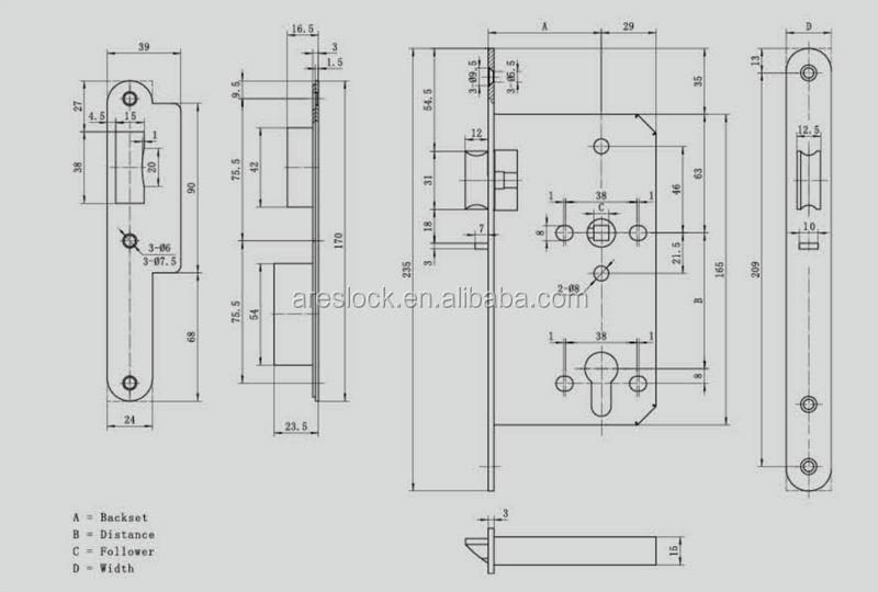 Night latch door lock, View door lock, areslock Product