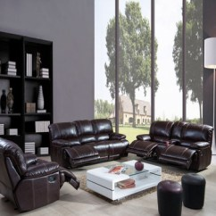 Luxury Leather Living Room Sets Decorating Ideas For Rooms Grey Modern Sf3671 Home Furniture No Inflatable Elegant Recling Sofa Set