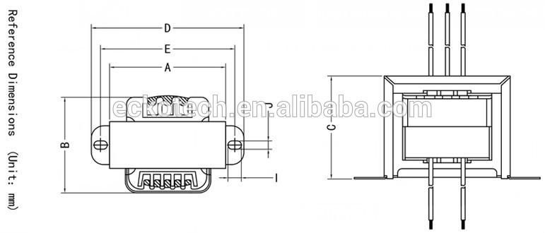UL Standard Material Amplifier EI 57 30 Power Transformer