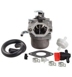 get quotations hipa carburetor with fuel filter shut off valve for briggs stratton 590399 796077 cub cadet [ 1000 x 1000 Pixel ]