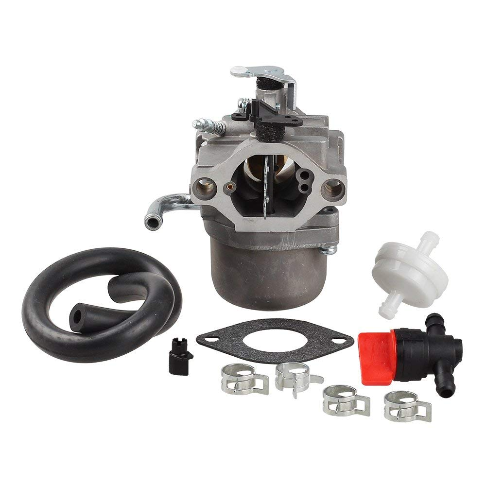 hight resolution of get quotations hipa carburetor with fuel filter shut off valve for briggs stratton 590399 796077 cub cadet