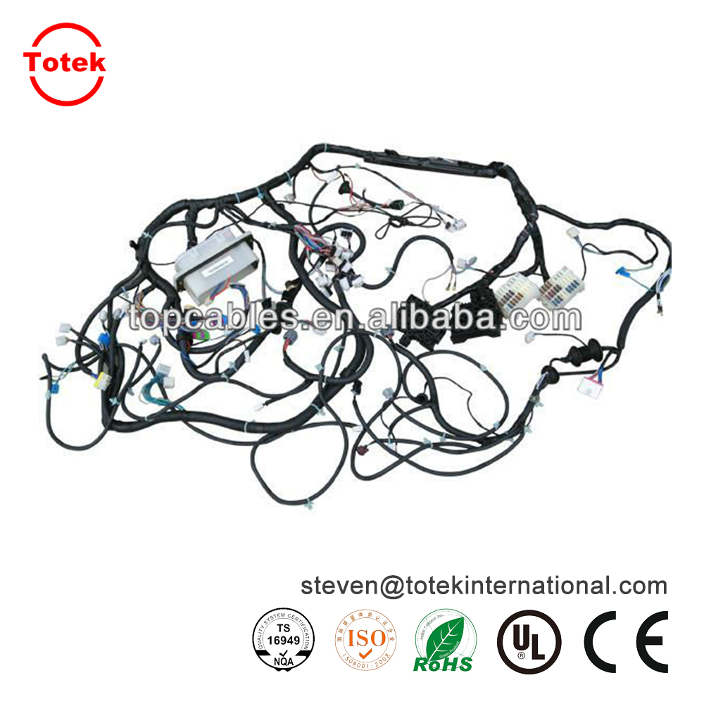 Custom Automotive Interconnect Wire Harness Wrapped By A